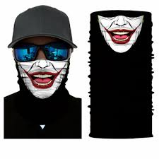 <b>5 Pcs</b> Joker Clown <b>Face Shield</b> Sun <b>Mask</b> MULTI-USED Fishing ...