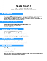 Common Letters The Most Appropriate Resume Education Format