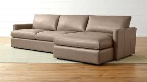 leather sofa with chaise lounge brown sectional ii right arm crate and barrel furniture ashley lo