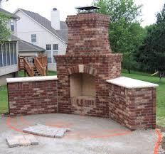 brick outdoor corner fireplaces ideas creative fireplaces design fireplace fence