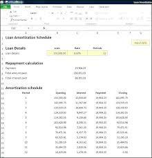 Auto Loan Amortization Table Excel Schedule Student Calculator