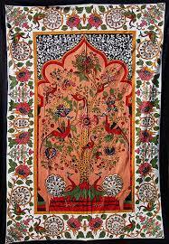 stunning persian peacock tree of life