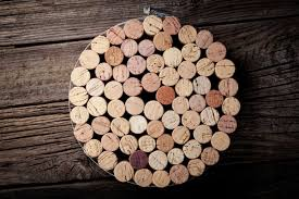 making a wine cork trivet coaster