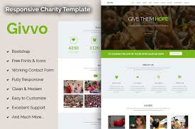 Givvo Charity Website Template Bootstrap Themes Creative Market