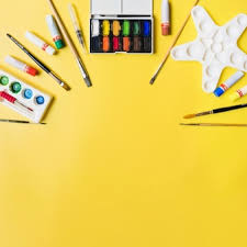 craft supplies background hd. Brilliant Supplies Painting Supplies On Yellow Background In Craft Supplies Background Hd