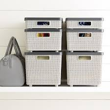 Grey Cottage Woven Storage Bins | The Container Store