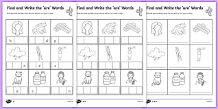 Activity worksheets for beginner phonics books. Ure Words Differentiated Worksheet Pack Ks1
