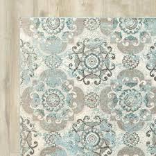 blue grey rug aqua crosier grey light blue area rug by bungalow rose
