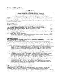 Air Force Resume Samples. military flight officer resume sample .