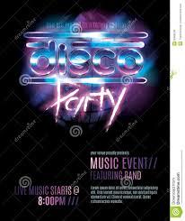 007 Template Ideas Disco Party Flyer Shiny Retro S