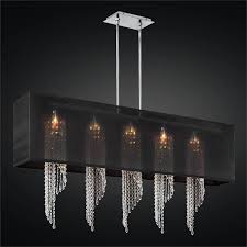 rectangular shade chandelier with spiral crystal ocean wave 617em44sp b 7c