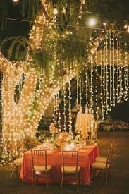 HOUZZ Holiday Contest A Pretty Backyard DInner Party  Eclectic Christmas Lights In Backyard