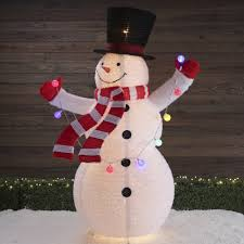 72 Light Up Snowman 72 In Snowman Sculpture With Multicolor Incandescent Lights