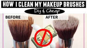 how to clean makeup brushes easiest est way