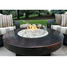 fire pit gas table hammered copper round fire table gas fire pit table photo natural gas fire pit