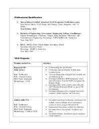 Vlsi Experienced Resume Resume