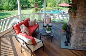 covered porch furniture. covered porch addition with stone fireplace malvern pa furniture