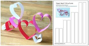 building structures with paper hearts