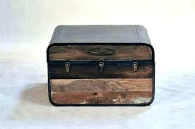 trunk style side table small coffee tables leather silo tree farm