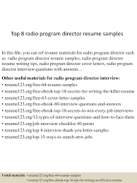 Radio Program Director Resume Top224radioprogramdirectorresumesamples224lva224app622492thumbnail24jpgcb=22424322456657224 4