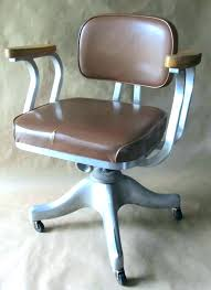 office chair vintage. Vintage Brown Leather Desk Chair Old Fashioned Swivel Office Red