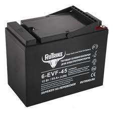<b>Тяговый гелевый аккумулятор RuTrike</b> 6-EVF-45 (12V45A/H C3 ...