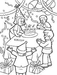 Birthday Party Coloring Page Birthday Party Coloring Pages 6