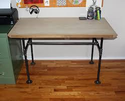 pipe desk diy vanillaandvelvet com