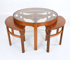 mid century modern nesting table by nathan 1960s