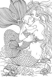 Realistic Mermaid Coloring Pages Beautiful Collection Free Adult
