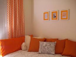 Orange Living Room Curtains Curtain Ideas For Orange Walls Living Room Accent Colors Orange
