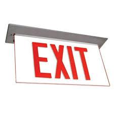 Edge Lit Exit Light Barron 00902 Led Edge Lit Exit Sign Ny900e Series Led