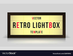 Free Signage Template Marquee Retro Lightbox Signage Template