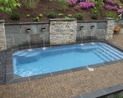 home swimming small pool s fiberglass inground pool s fiberglass pool retaining wall awesome