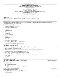 Sample Resume For Culinary Arts Student Write Happy Ending