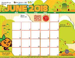 Summer Camp Calendar Template 2017 Summer Camp Calendar