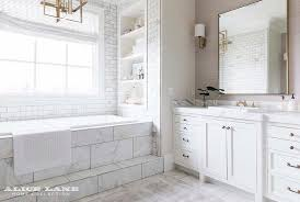 built in shelves over bathtub