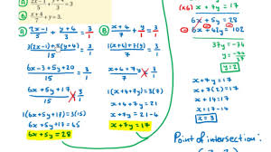 lc hl solving simultaneous equations with fractions