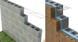 Masonry Reinforcement And Accessory Metals For Wall Construction