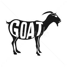 Creative Design Of Goat Inside Animal Silhouette Isolated Black On