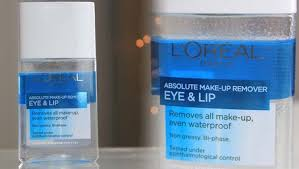 loreal eye and lip makeup remover half oil