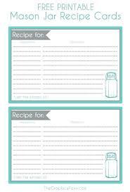 Printable Recipe Sheets Threeroses Us