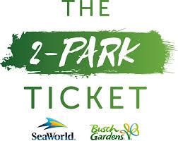 busch gardens ticket. Exellent Busch 2Park SeaWorld U0026 Busch Gardens Ticket And