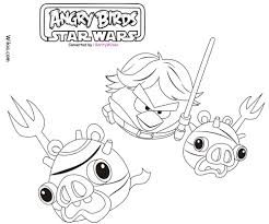 Angry Birds Star Wars Coloring Pages Team Colors Within Angry