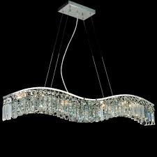beautiful rectangular crystal chandeliers 23 0000609 30 gesto modern wave chandelier polished chrome clear smoky champagne 5 lights