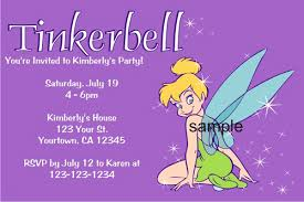 Tinkerbell Invitations Printable Personalized Tinkerbell Invitations Custom Printable Pho