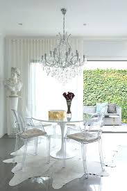 acrylic round dining table century with legs