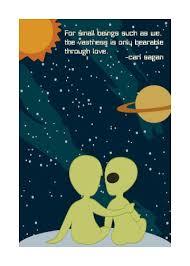 Carl Sagan Cosmic Love Geeky Greeting Card Monkey Minion Press Extraordinary Carl Sagan Love Quote
