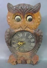 vintage owl shape og cuckoo clock