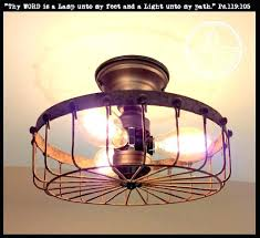 cage ceiling fan with light industrial ceiling light rustic industrial flush mount ceiling light cage industrial